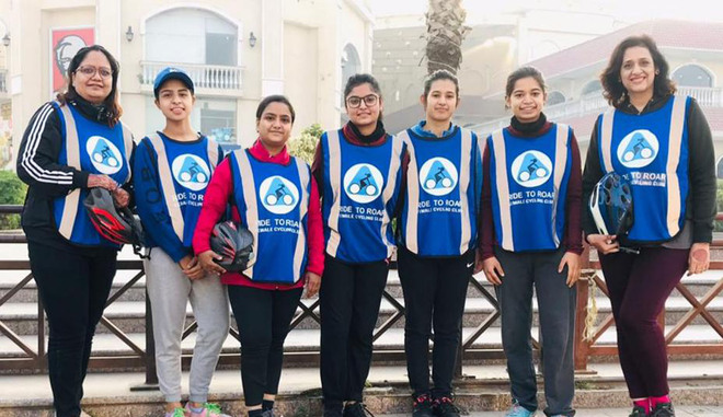 All-girls cycle riders' club pedals its way