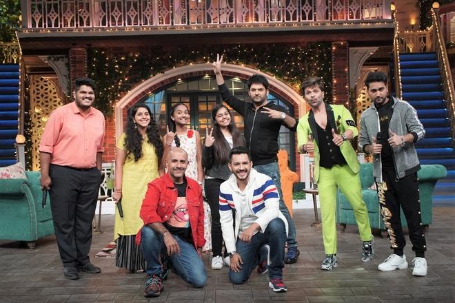 Indian Idol team on Kapil Sharma's show