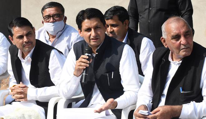 BJP-JJP govt on shaky ground: Deepender