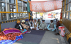 Protesters stage dharna at BJP's new office sites