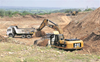 Five booked for illegal sand mining