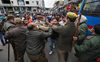 BJYM protesters detained outside Abdullah's residence