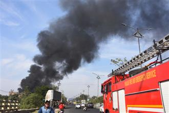Major fire in scrap godown, no casualty