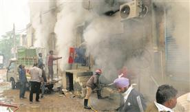 Fire at Patiala shoe godown