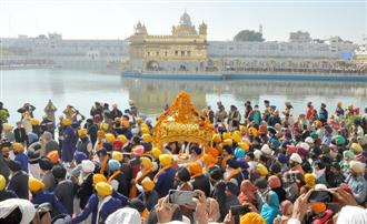 Nagar Kirtan taken out to celebrate Parkash Purb of Guru Nanak Dev