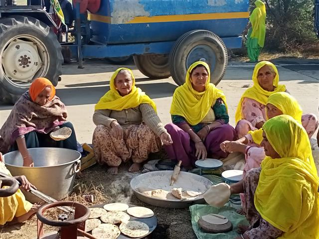 Farmers' protest: Determined women from Punjab brave chill on roads