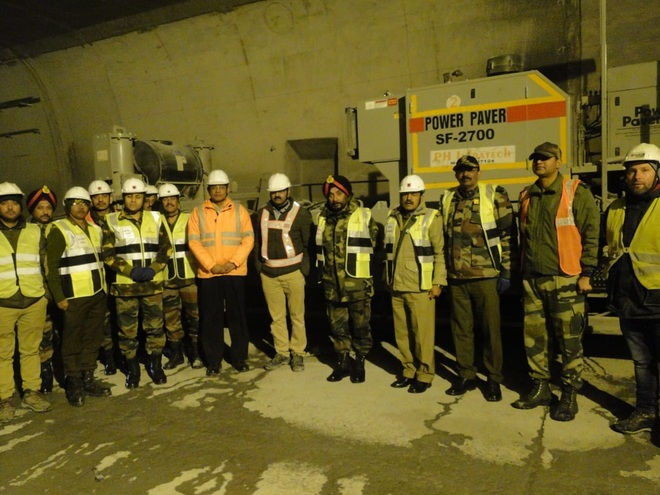 Progress of ongoing work at Rohtang tunnel reviewed