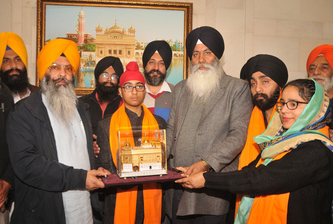 World's youngest theoretical author honoured by SGPC