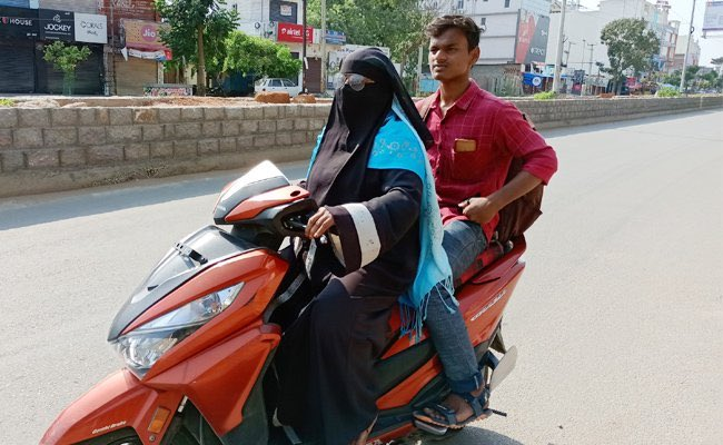 Telangana woman rides 1,400 km on Scooty to bring home teen son stuck due to lockdown