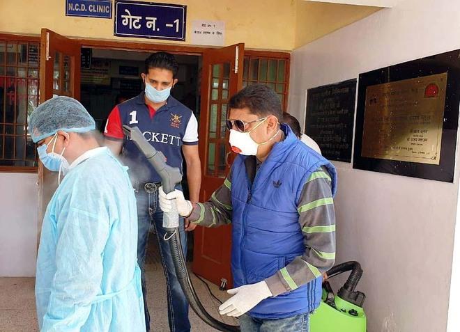 Steam sanitising machine installed at Nurpur hospital
