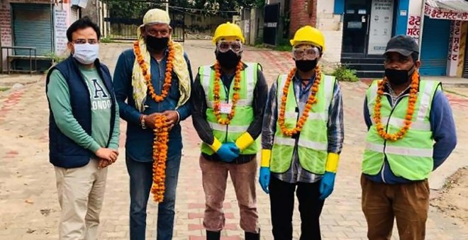 Sanitation workers in Jalandhar are doing their bit