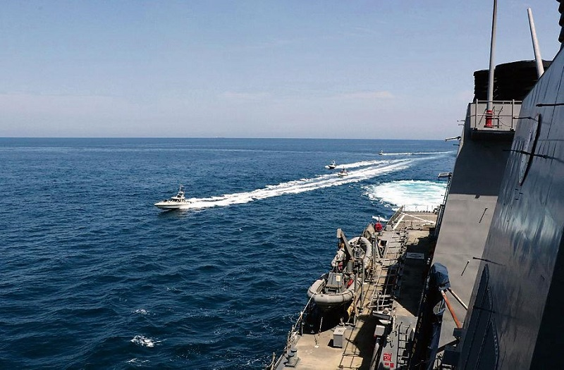 Iranian warship hit by missile in training accident, killing 19 sailors