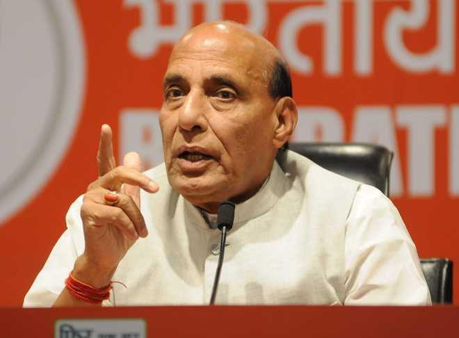 Talks at military, diplomatic levels on to resolve standoff: Rajnath