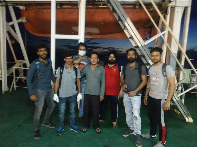 8 seafarers, including Mohali-based Captain,back home from Jakarta