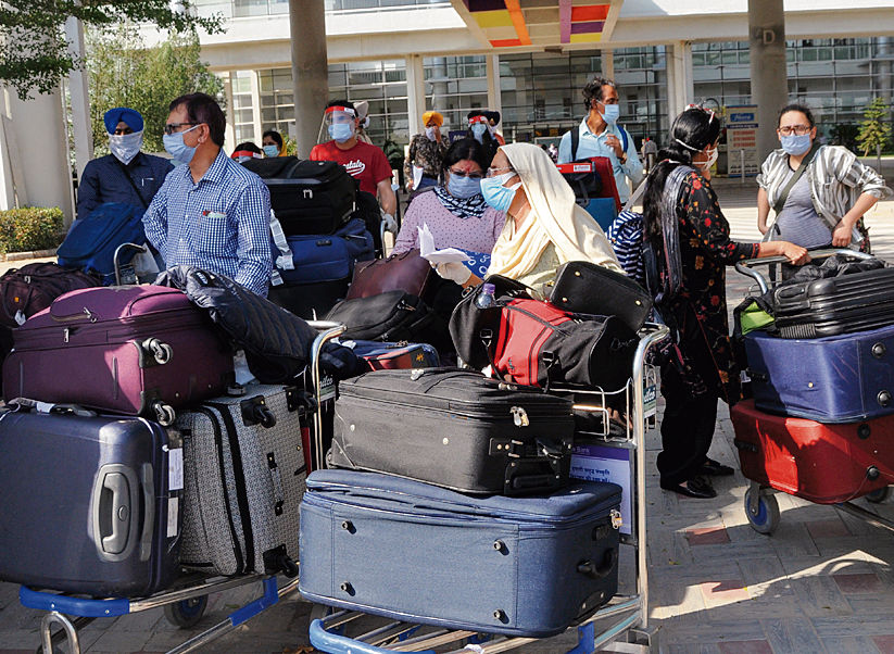 4 air passengers found infected