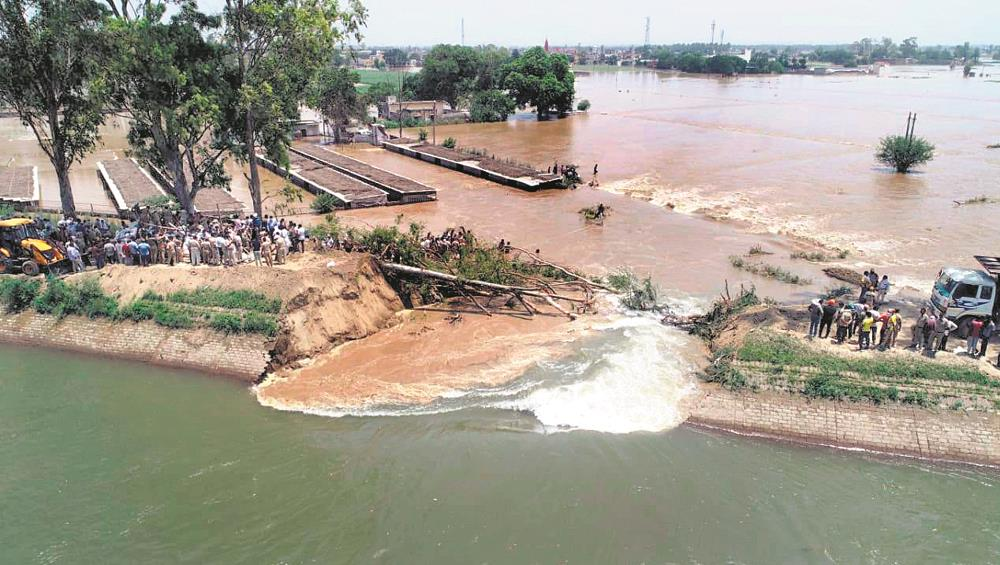 Karnal village flooded after canal breach