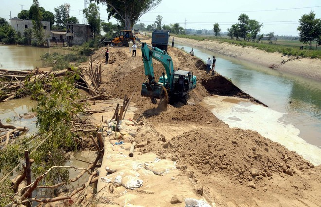 Day later, canal breach in Karnal village plugged
