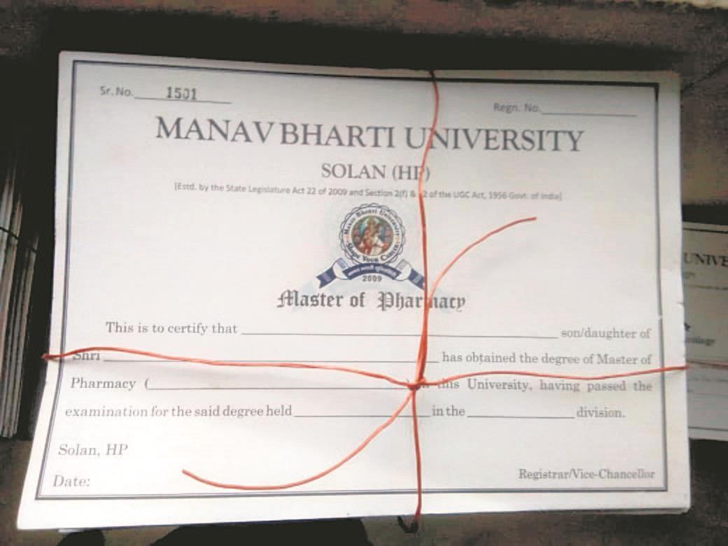Fake degree scam: Himachal's Manav Bharti University Registrar held