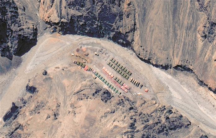 Satellite images show PLA buildup at Galwan