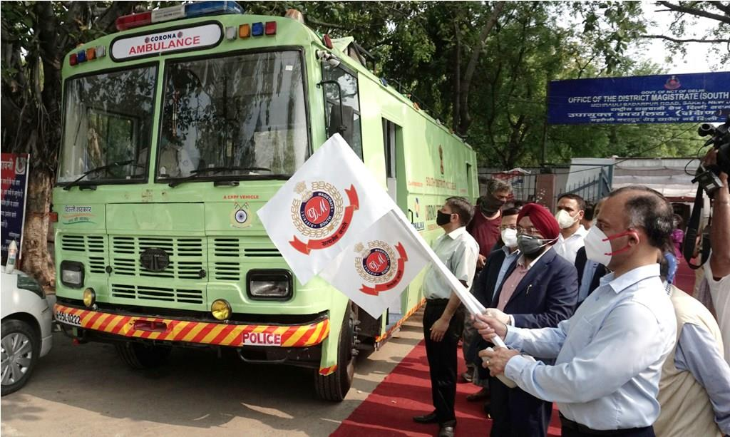 Covid-test equipped bus launched in Delhi