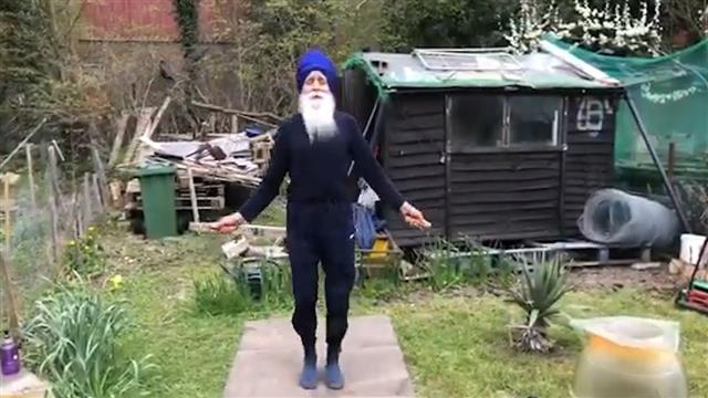 Inspiring 73-year-old grandfather known as 'Skipping Sikh' wins UK award