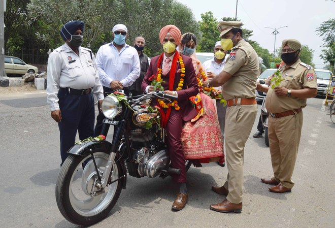 Marriage in Covid times: No 'baraat', bike replaces 'doli'