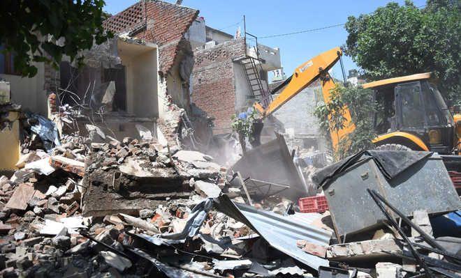 Five illegal structures demolished in Jalandhar