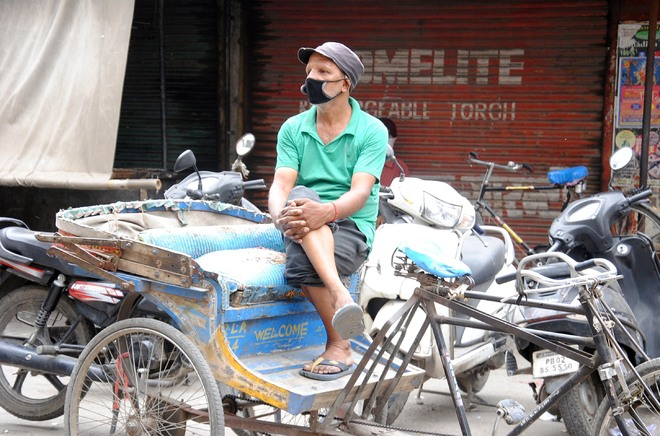 Crisis of survival for this rickshaw puller