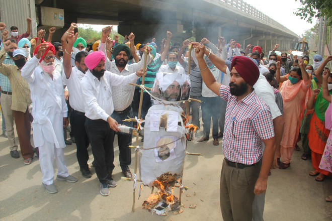 Staff protest 'auction' of thermal plant land in Bathinda