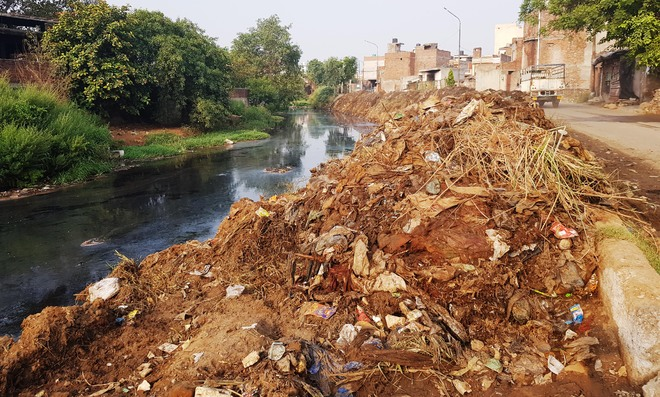 Waste from Buddha Nullah dumped on banks