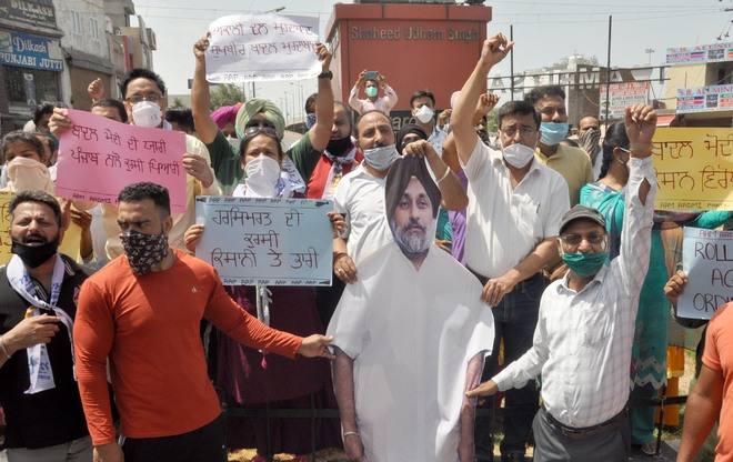 A day of demonstrations in Amritsar
