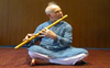 Indian musical instrument, bansuri, on a global note