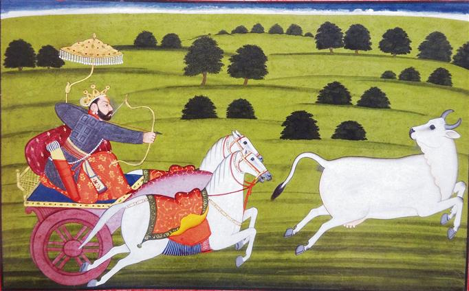 A great myth & kingly duty in Manaku's illustration of Bhagavata Purana