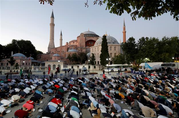 Istanbul's world-famous tourist attraction converted into a mosque