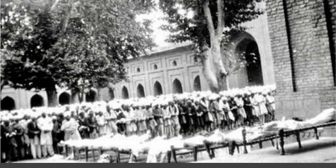 """NC posts 1931 picture to recall Kashmir's """"struggle for dignity and identity"""""""