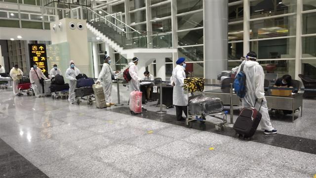 177 evacuee passengers from Kuwait arrive at Chandigarh International Airport