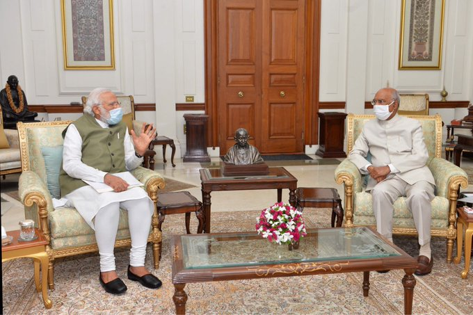 PM Modi calls on President Kovind amid border stand-off with China