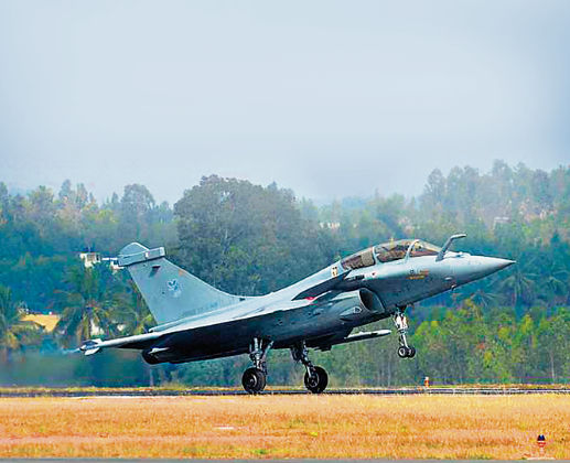Five Rafale jets take off from France to India