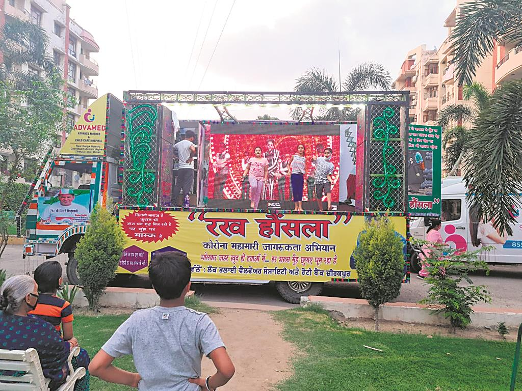 Musical truck helping residents relieve Covid stress