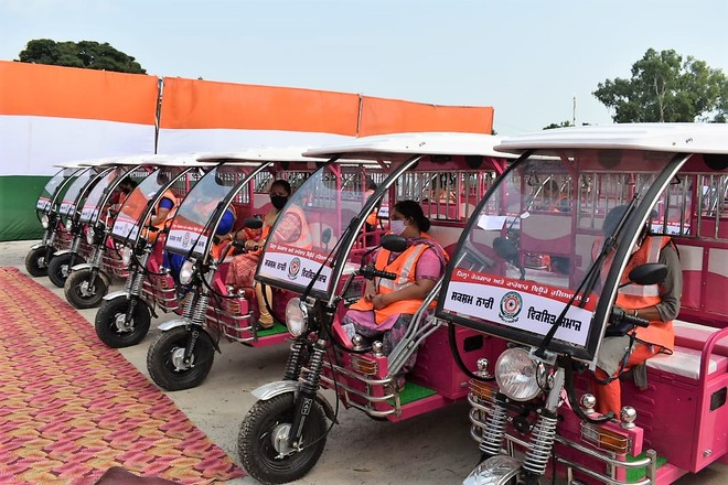 38 needy women given e-rickshaws