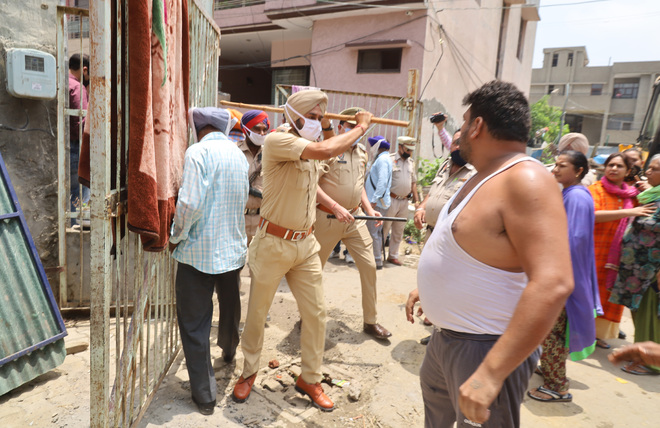 Encroachers scuffle with LIT team on Dugri Road