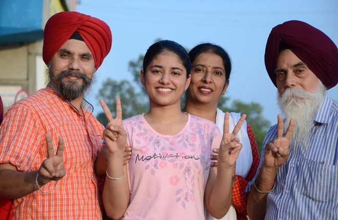 Girls all the way: Abheya tops dist with 99% marks