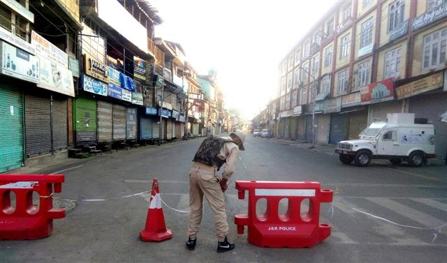 Curfew lifted from Srinagar district, restrictions due to pandemic to continue