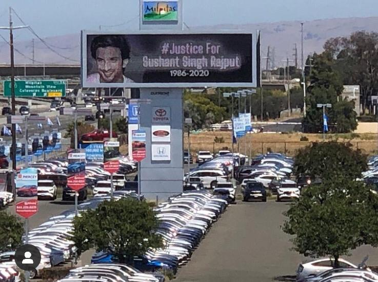 US billboard calls for justice for Sushant Rajput, actor's sister shares picture