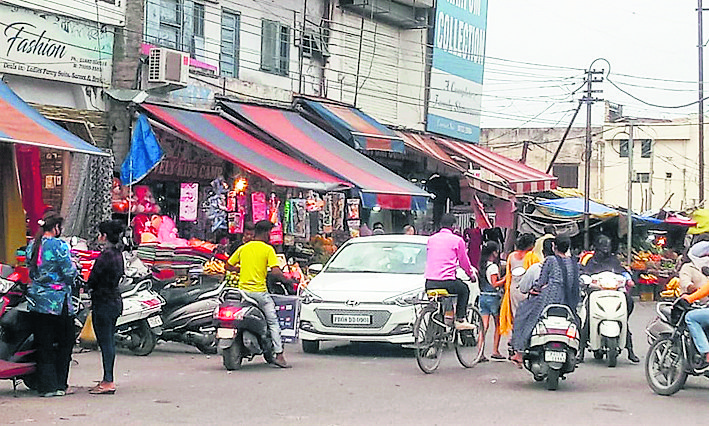 Where encroachments deprive pedestrians of their right to walk