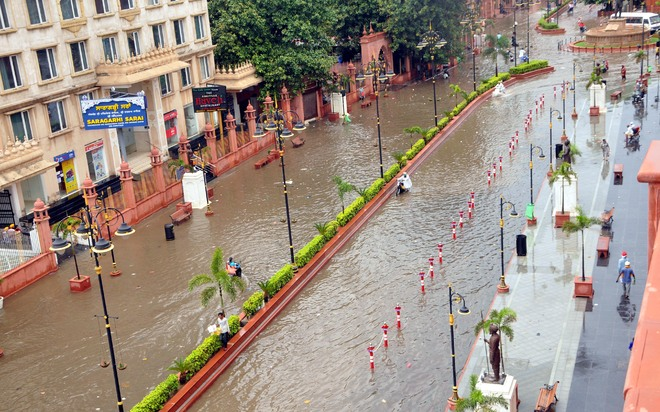2-hour rain exposes Amritsar MC's tall claims