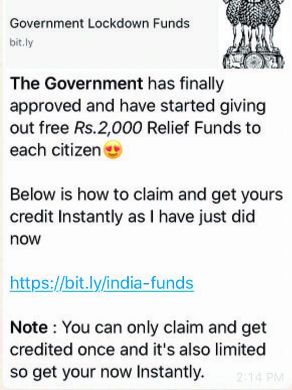 Beware! Fake message promising Rs 2K Covid relief doing rounds on social media