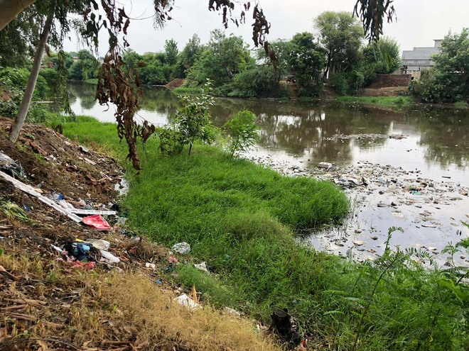 Stinky pond an eyesore for Gujjarwal residents