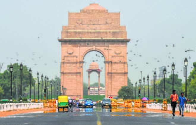 Delhi's air quality in 'moderate' category
