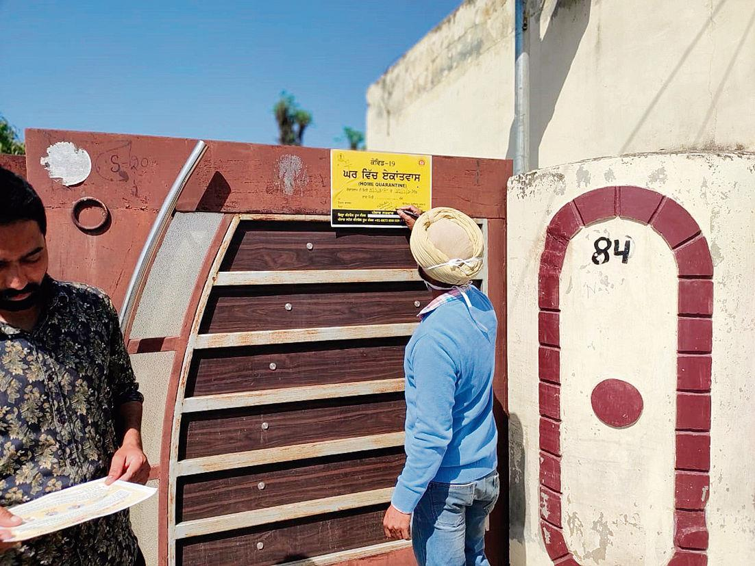 No more pasting posters on quarantined houses in Chandigarh